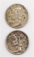 1941 and 1942 Mercury Dimes