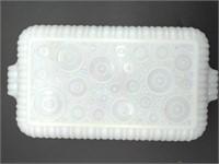 Milk Glass Primrose Pattern (3) Snack Plates and