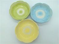 "Egg Plate 9.5"" Flower Shaped Bowls 8"", and Egg"