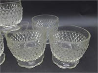 (9) Footed Tumbler Glasses 3.5""