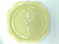 (5) Green Sun Valley By Harker Snack Plates, (3)