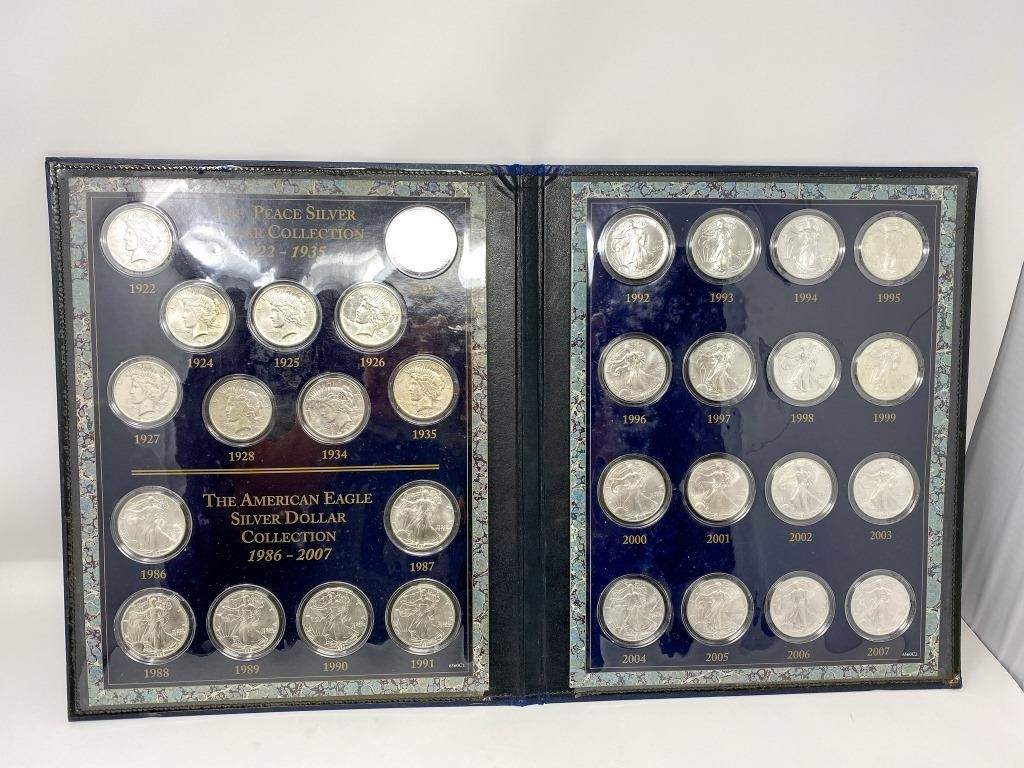 31 Silver Dollars Peace and Silver Eagle