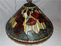 Hanging Lamp with a Tiffany Appearance