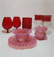 FENTON PINK & RED GLASS