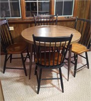 HITCHCOCK CHAIRS PLUS TABLE