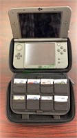 Nintendo 3DS XL portable game player with eight