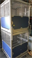 32 x 32 x 81 animal cage, 2 compartments