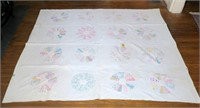 "Lot: 2 Early Hand Sewn Quilts: crazy quilt 60""x72"""