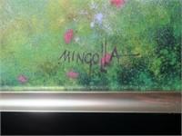 """23.5"""" x 19.5"""" framed enameled plaque,"""