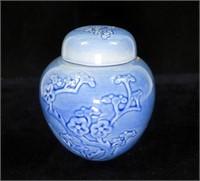 """Metlox Porcelain ginger jar, 5.5"""" H."""