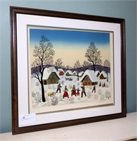 """30.5"""" x 34"""" Framed signed /numbered colored print"""
