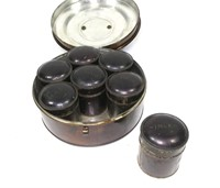 Early Tole 7 pc. spice set,