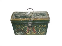 Early tole decorated lunch box,