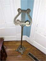 "Brass Music Stand, 38"" H."