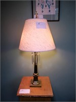 """Brass Table Lamp with prisms, 29"""" H"""