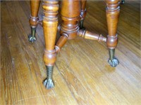 Claw and Ball Foot adjustable piano Stool,