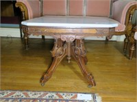Victorian Marble top stand, walnut