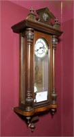 Mahogany Case Wall Regulator clock