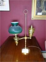 Electric brass student desk lamp