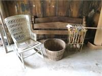 Lot: Antique Rope bed, size: 3/4