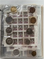 Major Binder Lot of Currency-Tokens-Stamps Collect