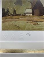 A.J.Casson Artist Proof 49/60 Barn Near Quadrille