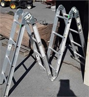 Werner Multi function aluminum ladder 8-16ft,