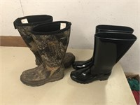 LOT OF 2 PAIRS BOOTS