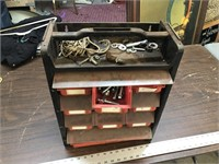 HARWARE STORAGE CADDY WITH CONTENTS