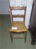 Grained caned seat side chair/counter stool
