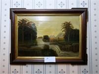 """16"""" x 24"""" O/C with Victorian Walnut Frame"""