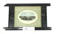 Eastlake framed colored photo of Oswego Harbor,