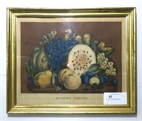 "16"" x 20"" Currier & Ives Colored Litho,"