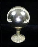 "Mercury Glass ball, 10"" H."