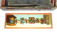 14 glass Magic Lantern Slides, with original box