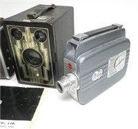 Collection of vintage Cameras and Movie Camera