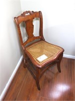 Antique Cain seat sidechair