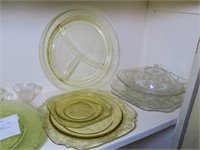 Lot: Assorted Depression Glass and Misc.