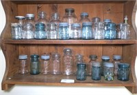 Collection of 38 Vintage Canning Jars