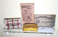 Lot: Antique Soap & Ephemera, 4 pcs.