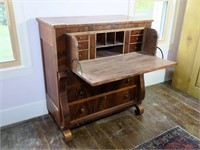 Empire Crotch Mahogany Butler's Desk,