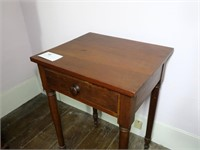 Cherry 1-drawer Stand with turned legs,