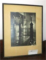 "20.5"" x 16.5"" Framed Vintage Photo, signed"