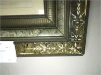 """16"""" x 17.5"""" Victorian frame with colored print,"""