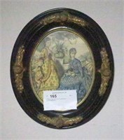 "15"" Oval Victorian Framed passion print"