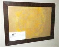 "13"" x 12.5"" Oak framed print"