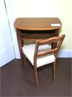 Maple Writing Desk/ Telephone stand with chair,
