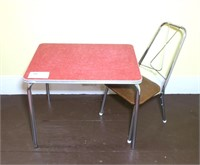 Child's Vintage Table and Chair,