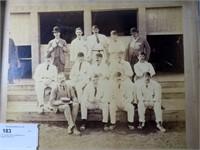"16"" x 19"" Vintage Photo of Cricket team, identity"