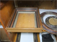 Lot: Victorian Frame, O/C, Beaded Purse,